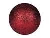 Deco Ball 3,5cm, red, glitter 48x