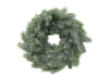 Fir wreath, snowy, PE, 45cm