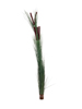 Reed grass with cattails,dark-green, artificial, 152cm